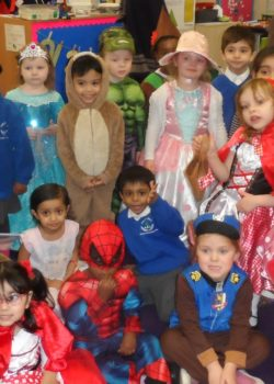 Costumes galore on World Book Day.