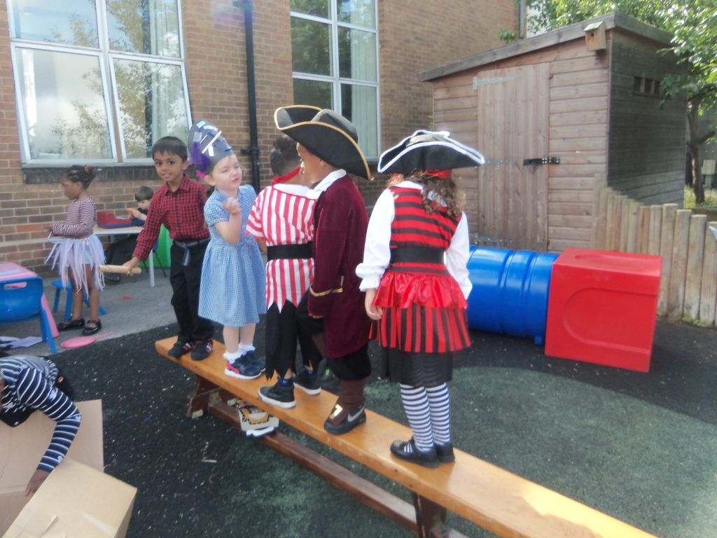 then they walked the plank...